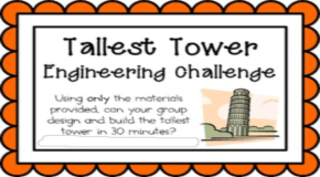 Maple Leaf 3rd Grade Participates in a Tower Challenge