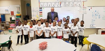 Mr. O and a kindergarten class