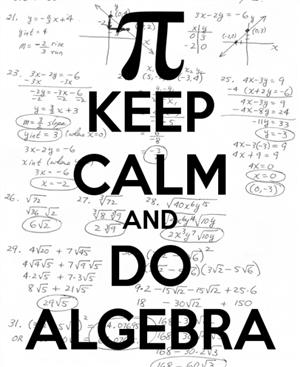 Keep Calm do Algebra