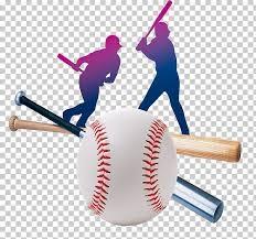 Silouhette of a baseball player swinging a bat