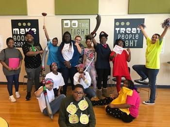 Drama Club Students performing