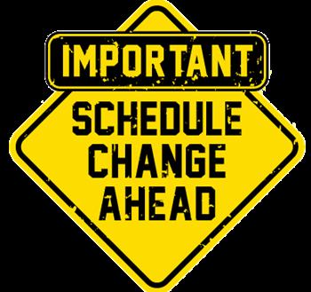 clip art picture of schedule change ahead