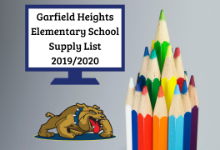 Garfield Heights Elementary School Supply List - 2019/2020