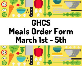 Meal Order Form for March 1st-5th