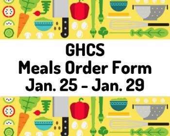 Grab & Go Meal Order Form - Jan. 25-29
