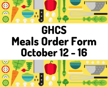 Meal Order Form, October 12-16