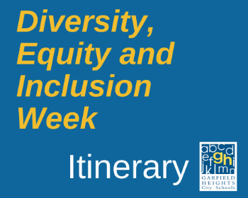 Diversity, Equity, and Inclusion Week Itinerary