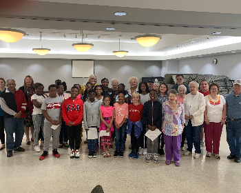 William Foster K-Club Students Interact with Senior Citizens