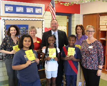 GHCS Thanks Kiwanis for Book Donation!