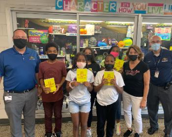 Garfield Heights Kiwanis Donates Dictionaries to Garfield Heights Middle School 6th Graders