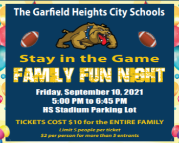 Join us on Friday, September 10th for Family Fun Night!