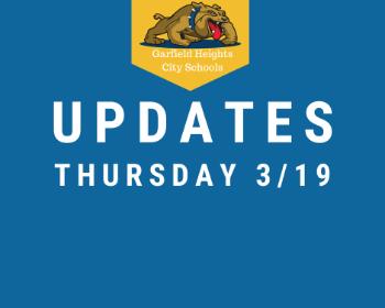 GHCS Updates - 3/19/2020