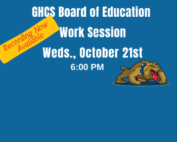 GHBOE Work Session Recording - 10/21/20