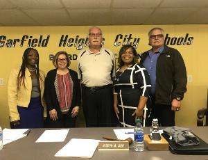 Garfield Heights City Schools Hosts Organizational Meeting, Welcomes New Board Members