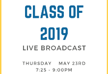 Watch the Class of 2019 Graduate Live!