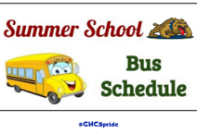 SUMMER SCHOOL BUS SCHEDULE