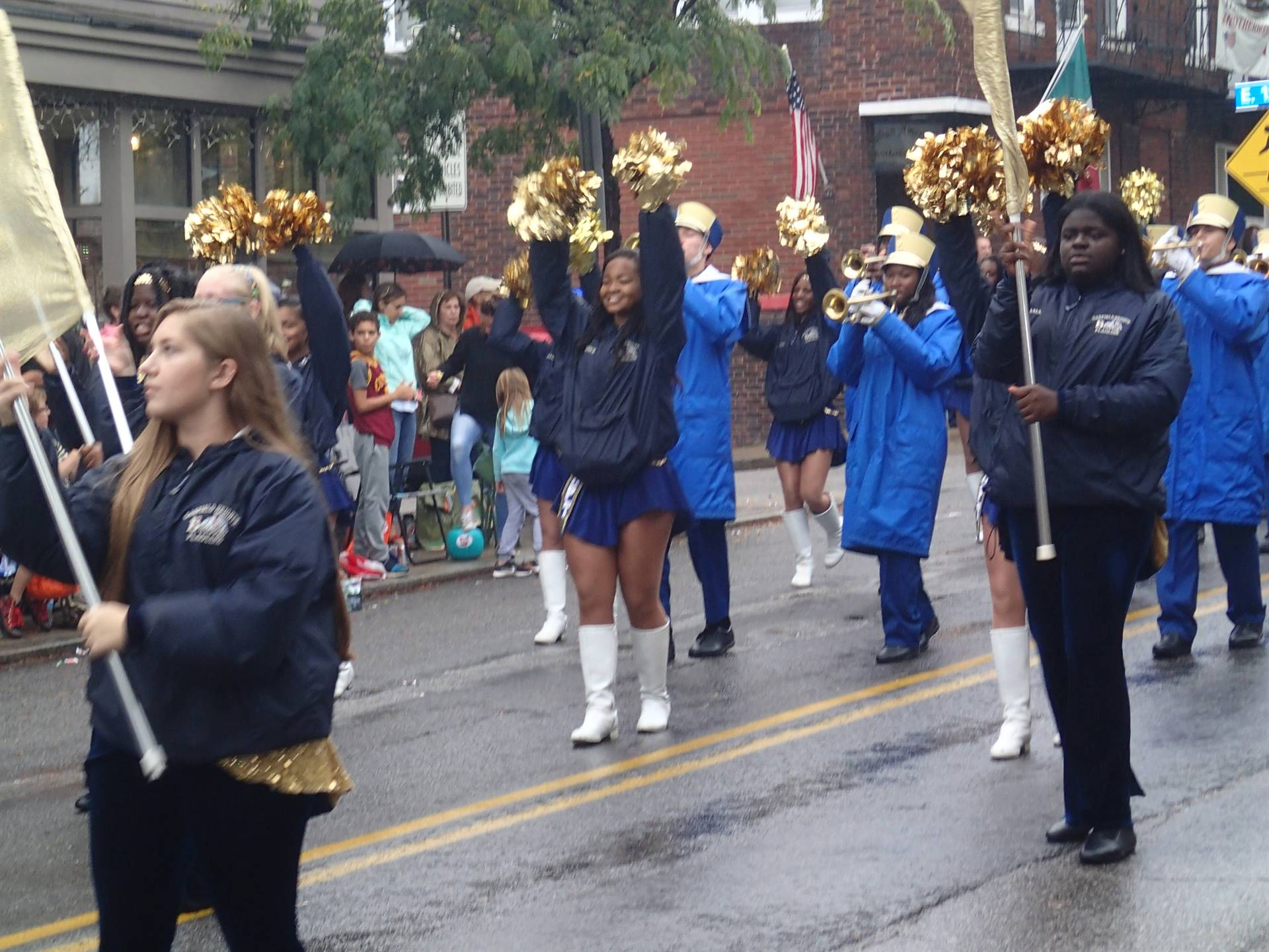 GHHS Marching Band at Columbus Day Parade 2017