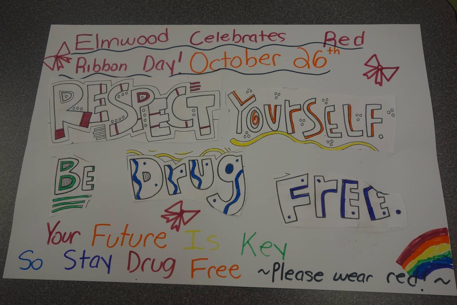 Elmwood Celebrates Red Ribbon Week 2017