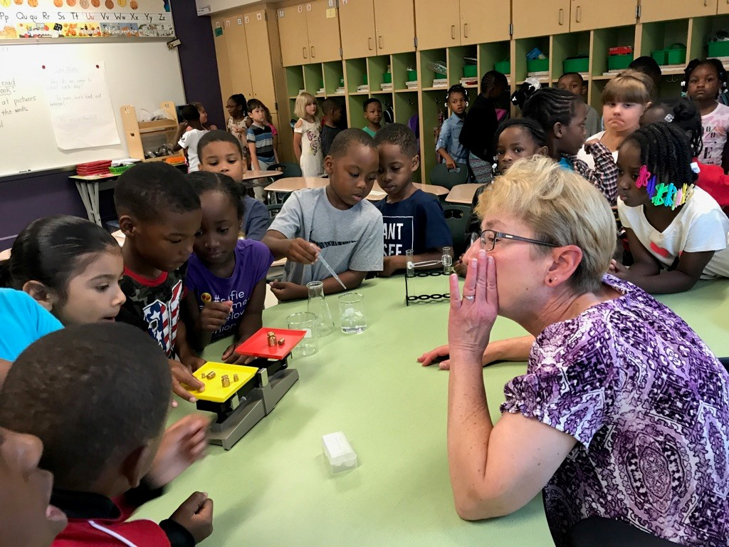 First Grade learns about science