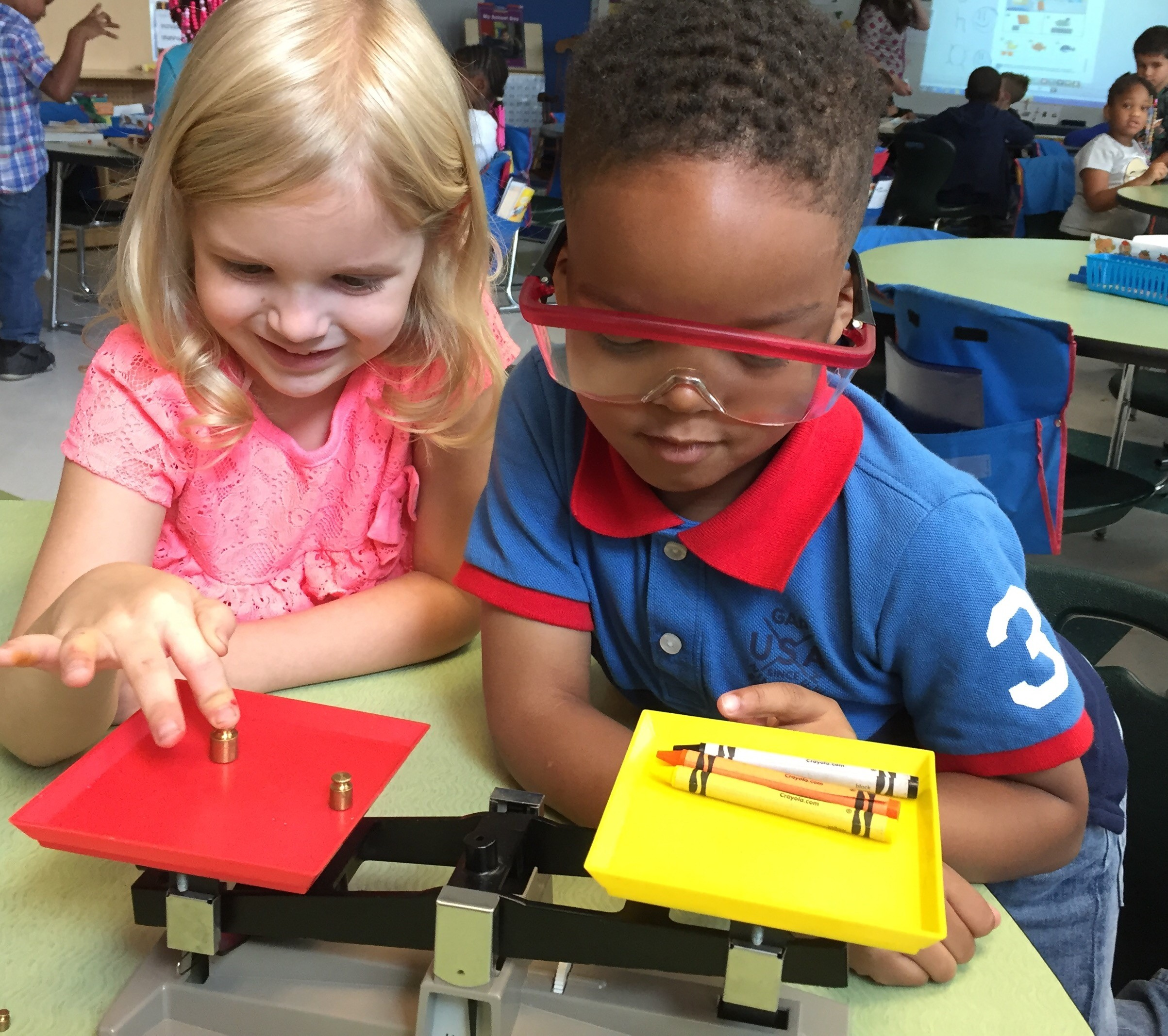 First Grade Learns about science tools