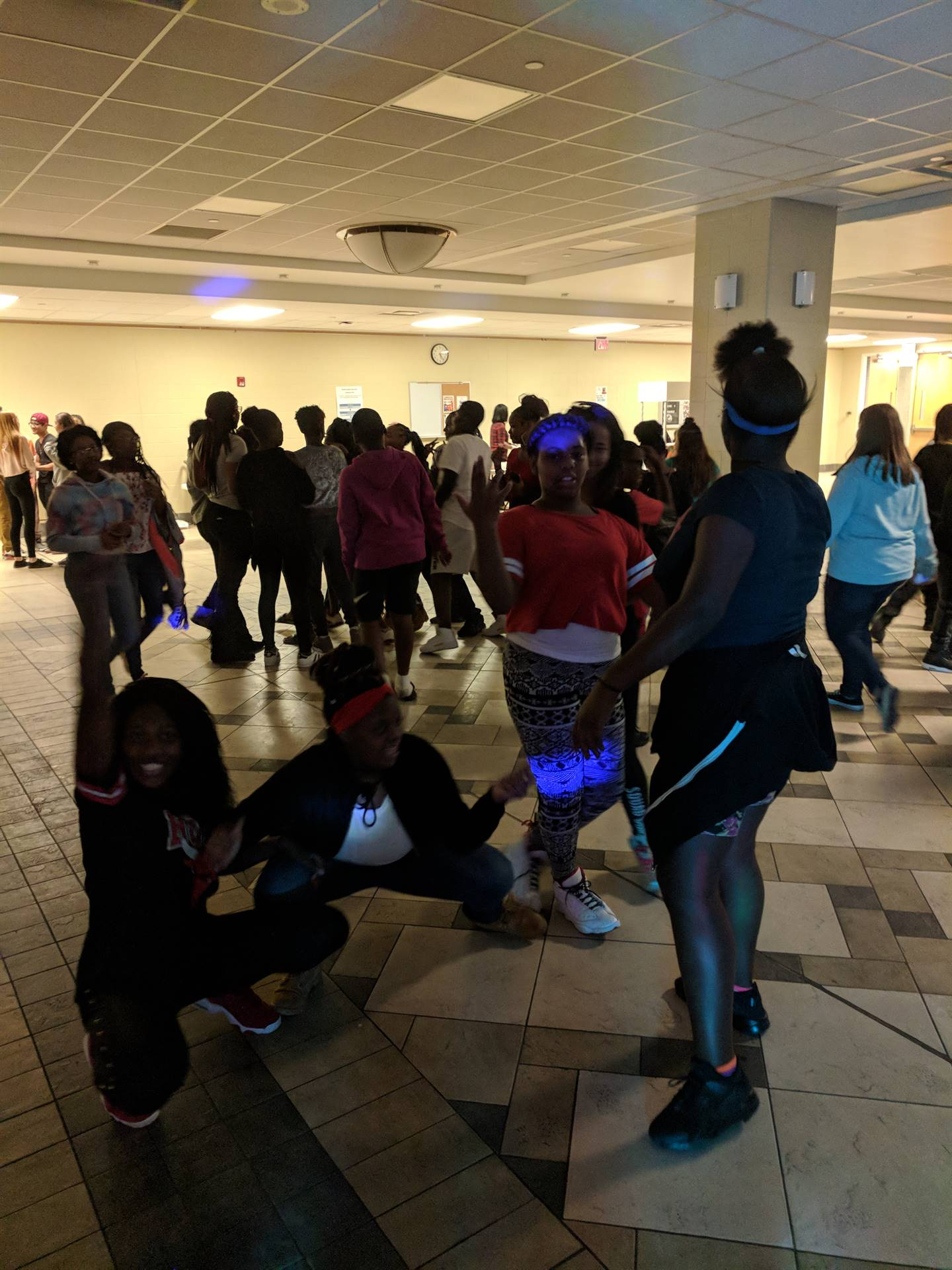 students at the PTA dance
