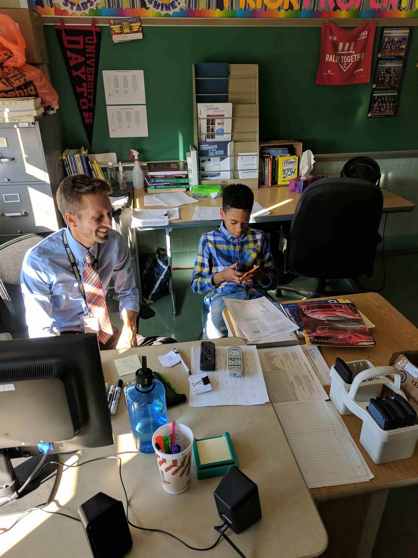 Students and staff work together during lunch to improve knowledge, skills, and study habits