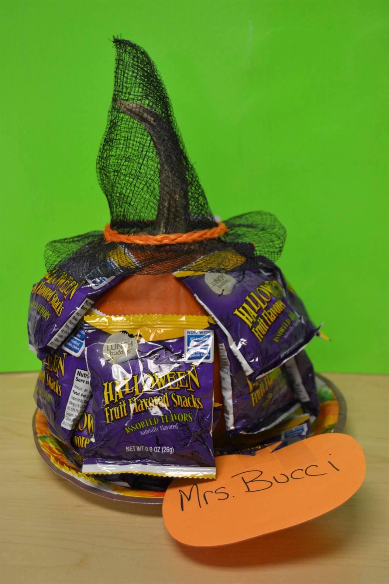 Pumpkin created by Mrs. Bucci