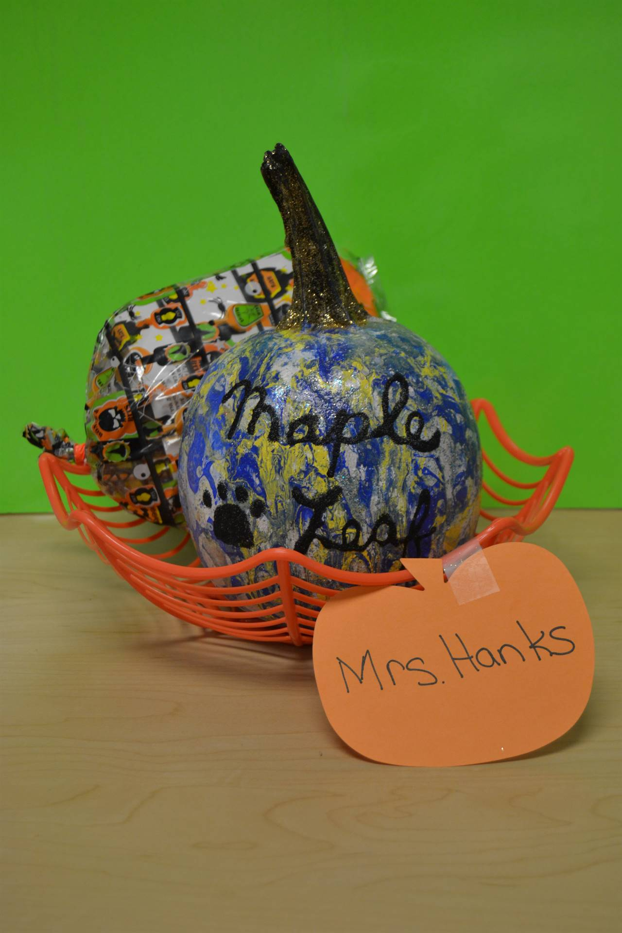 Pumpkin created by Mrs. Hanks