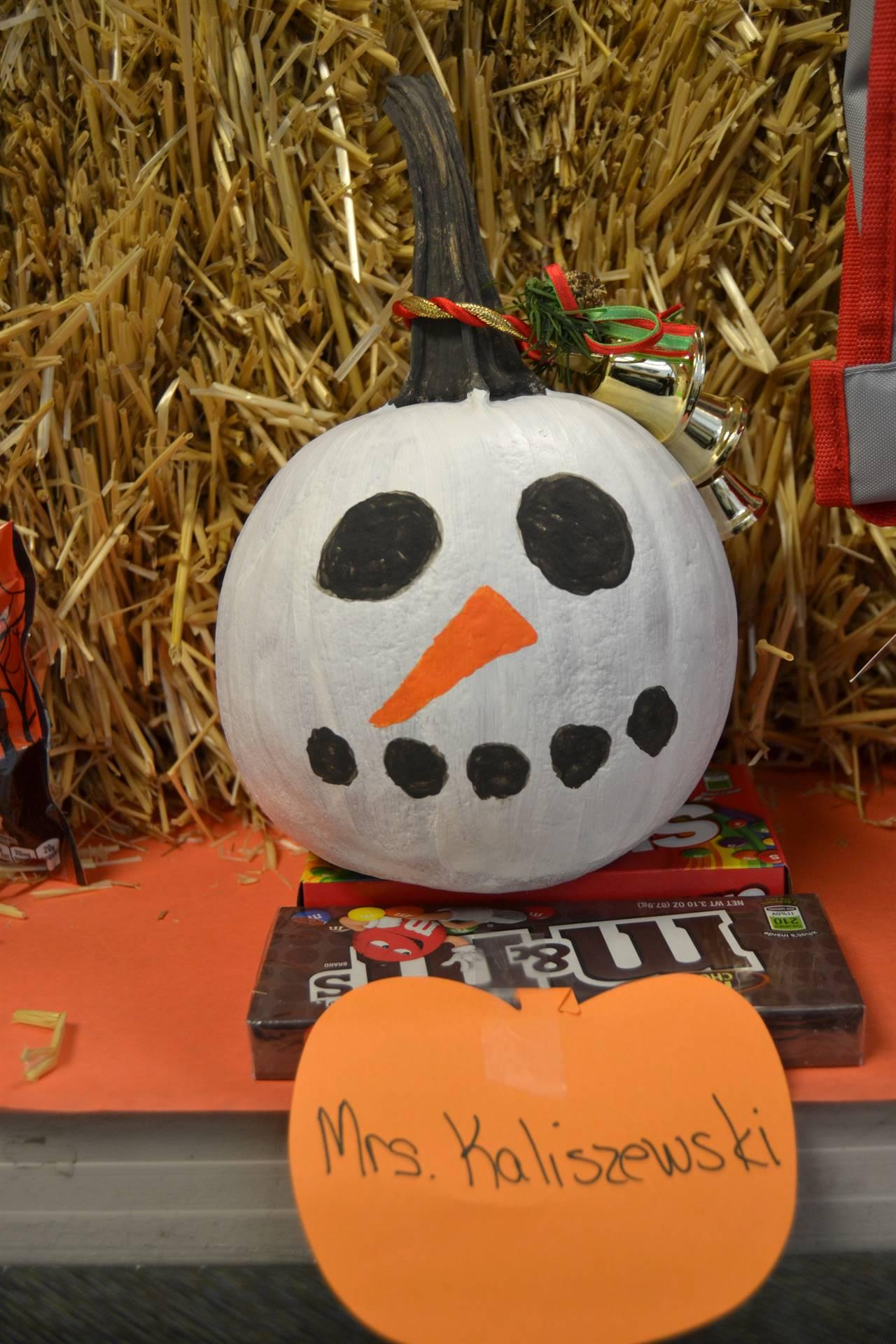 Pumpkin created by Mrs. Kaliszewski