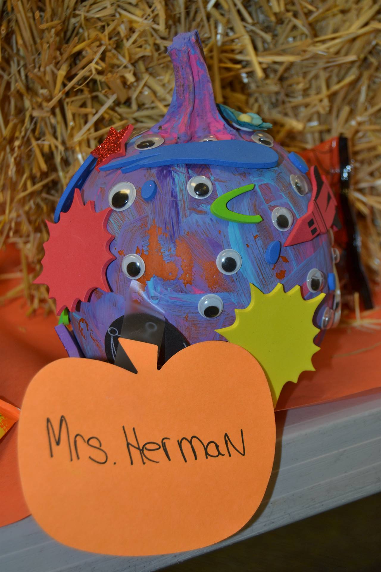 Pumpkin created by Mrs. Herman