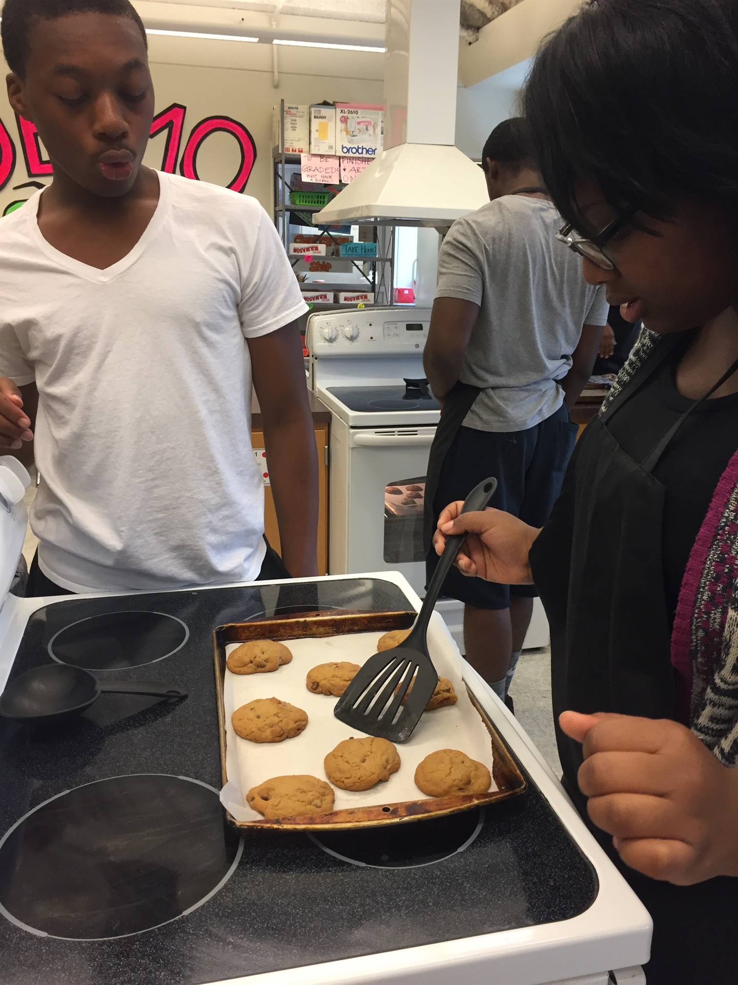 Food Service students making cookie dough