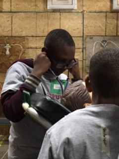 students with a stethoscope