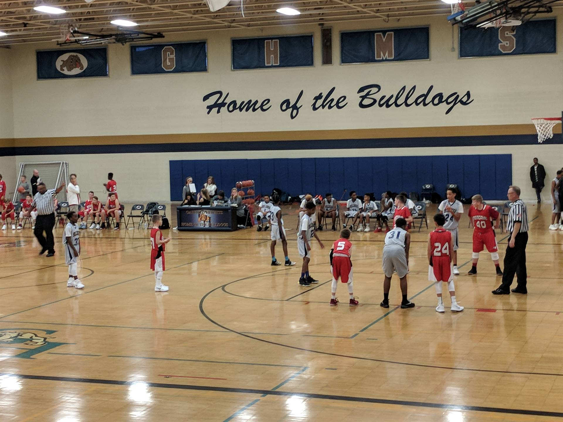 on the court basketball game