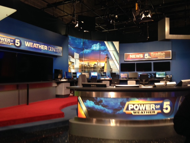 the set of channel 5 news