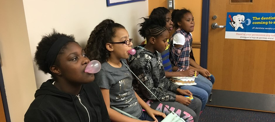 Recently some students at Elmwood participated in a Bubble gum chewing contest sponsored by our PBIS BLT. The girls had so much fun participating in this rewarding activity.