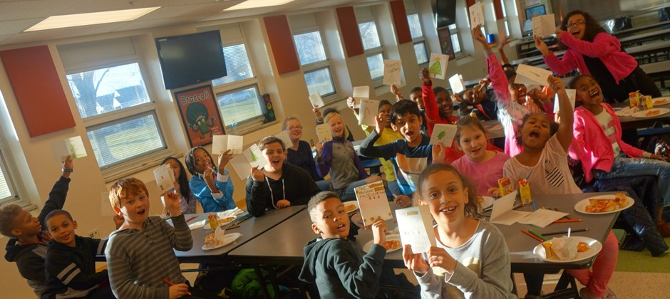 "Elmwood's K-Club met on Wednesday December 6th and made holiday ""CHEX MIX"" and ""HOLIDAY CARDS"" for the GHFD. It was the Kiwanis students who came up with this idea to honor our service men and women of Garfield Heights.  Giving to others helps our students gain confidence and value not only in themselves, but those around them. Happy Holiday's to ALL from the Elmwood K-CLUB."