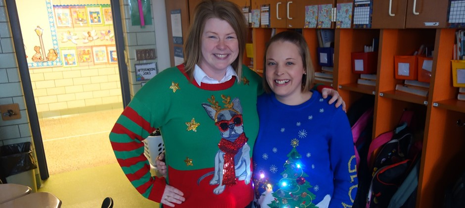 On Monday December 11th Elmwood staff members celebrated the holiday's with a little sugar and a lot of cheer. Elmwood staff sparkled as we wore our ugly Christmas sweaters during our cookie celebration.