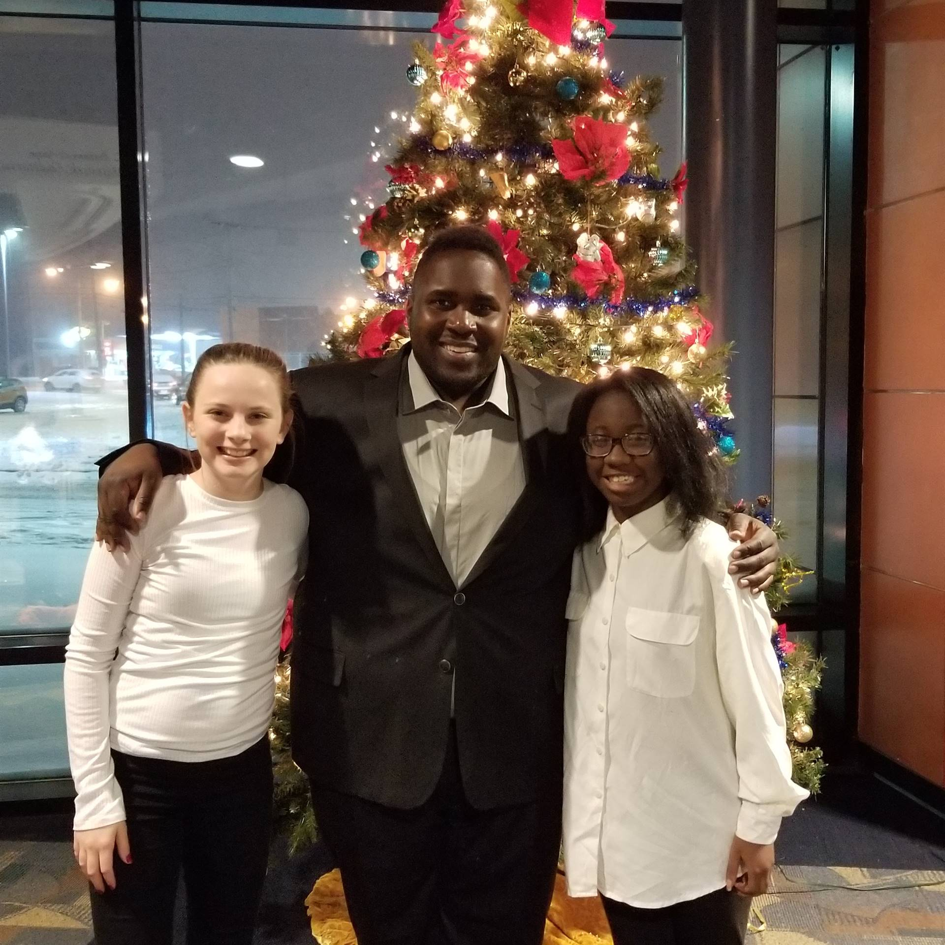 Azlan Smith, Mr. Pope (Band Director), and Sarai Bolton