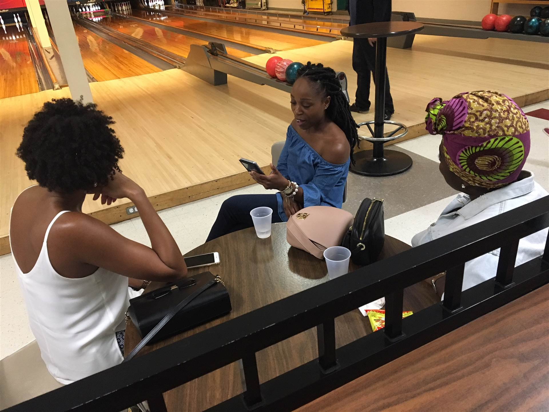 Chatting and bowling