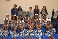 cheerleaders, Bulldog, Kali Strickland, Toya Hodge, Jean Rizi, April Smith
