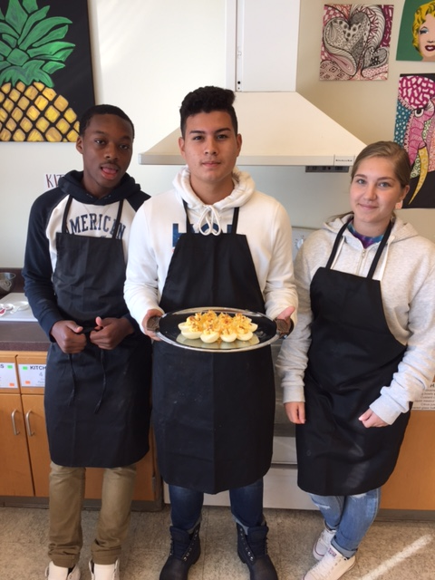 Food Service Tech Making Deviled Eggs