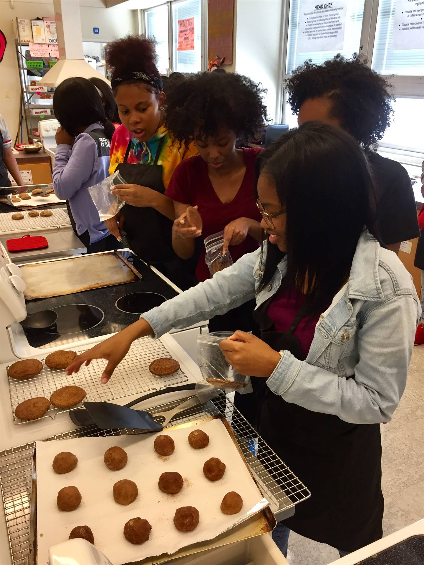 Food Service Tech Making Snickerdoodle Cookies