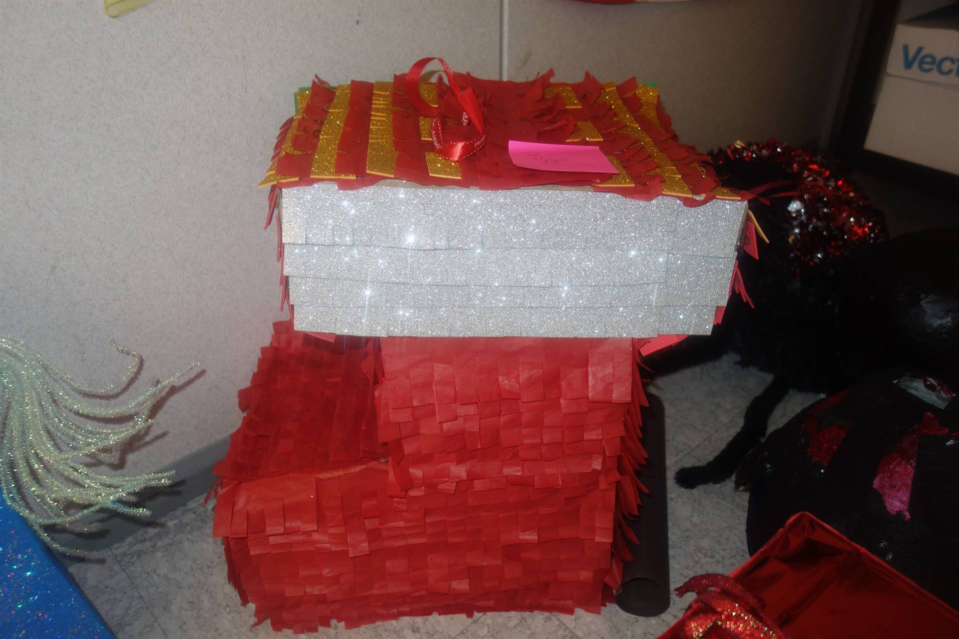 Christmas stocking pinata