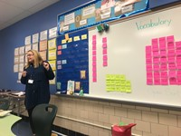 presenting vocabulary words