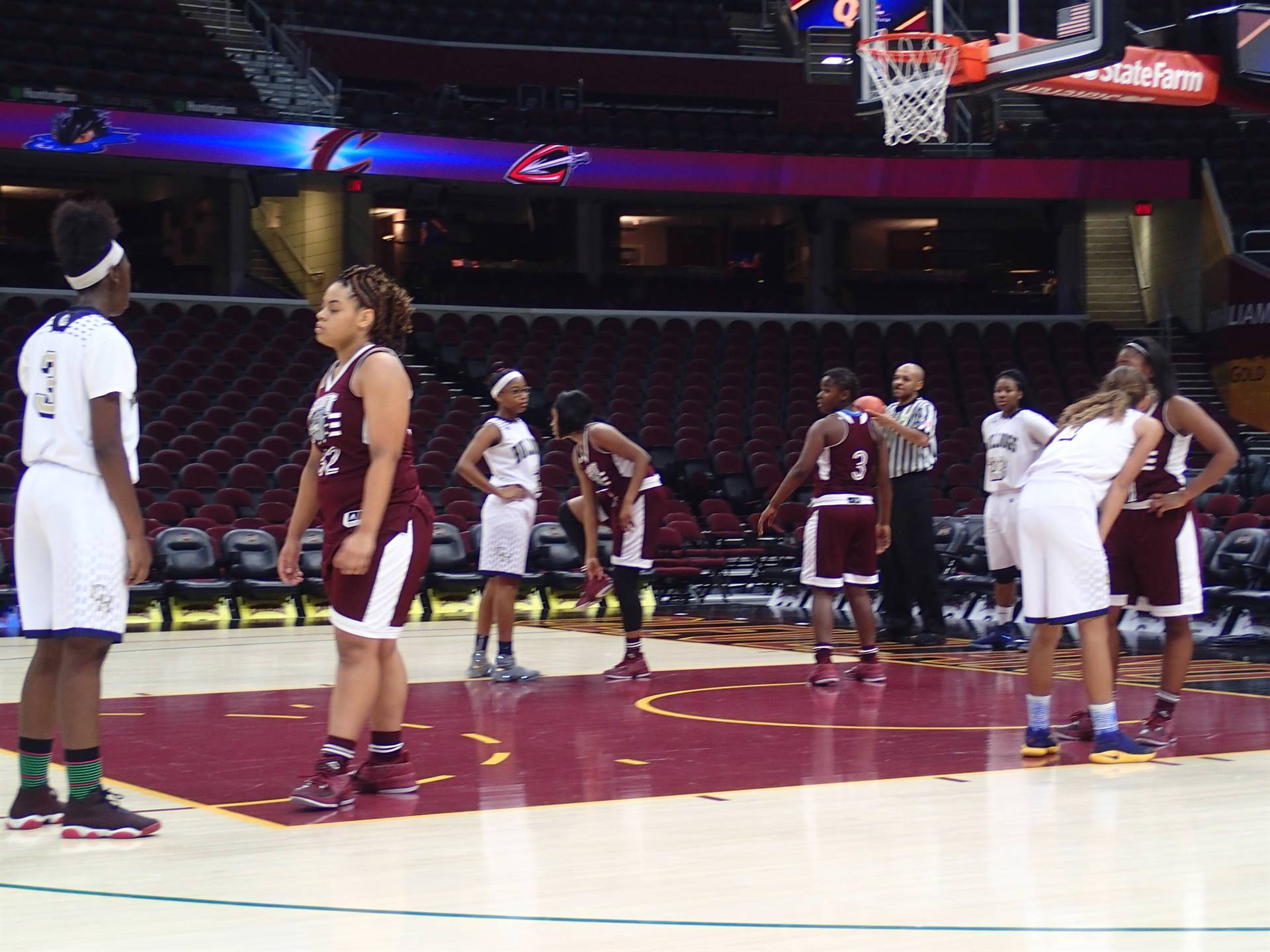 Girls basketball team at the Q
