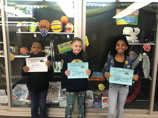 Students with PBIS Certificate.