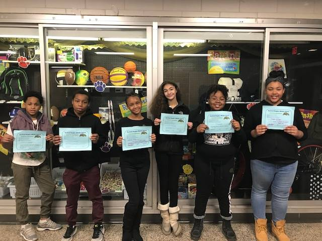 Students with their PBIS Certificates.