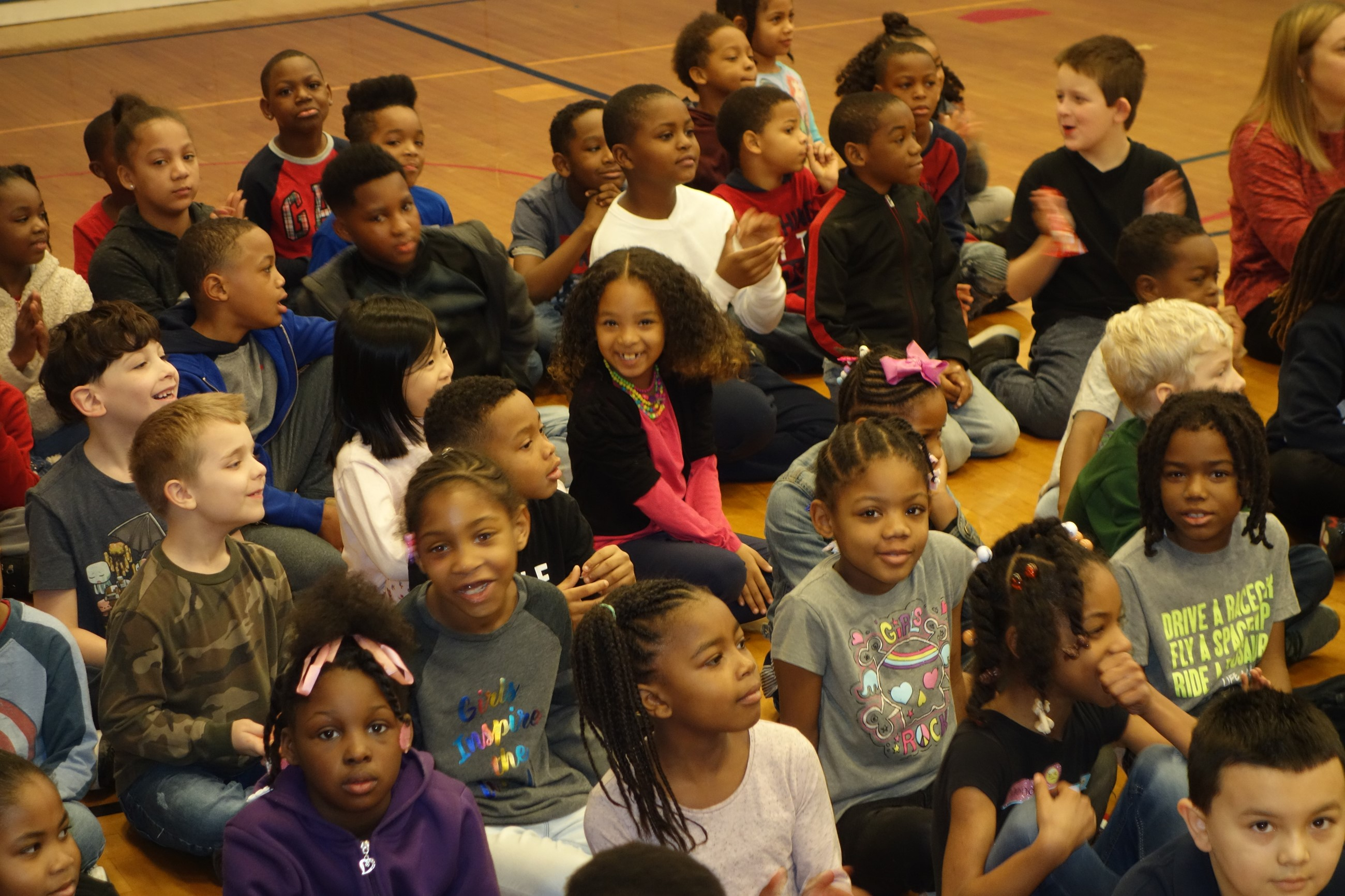 Students at PAWS Assembly