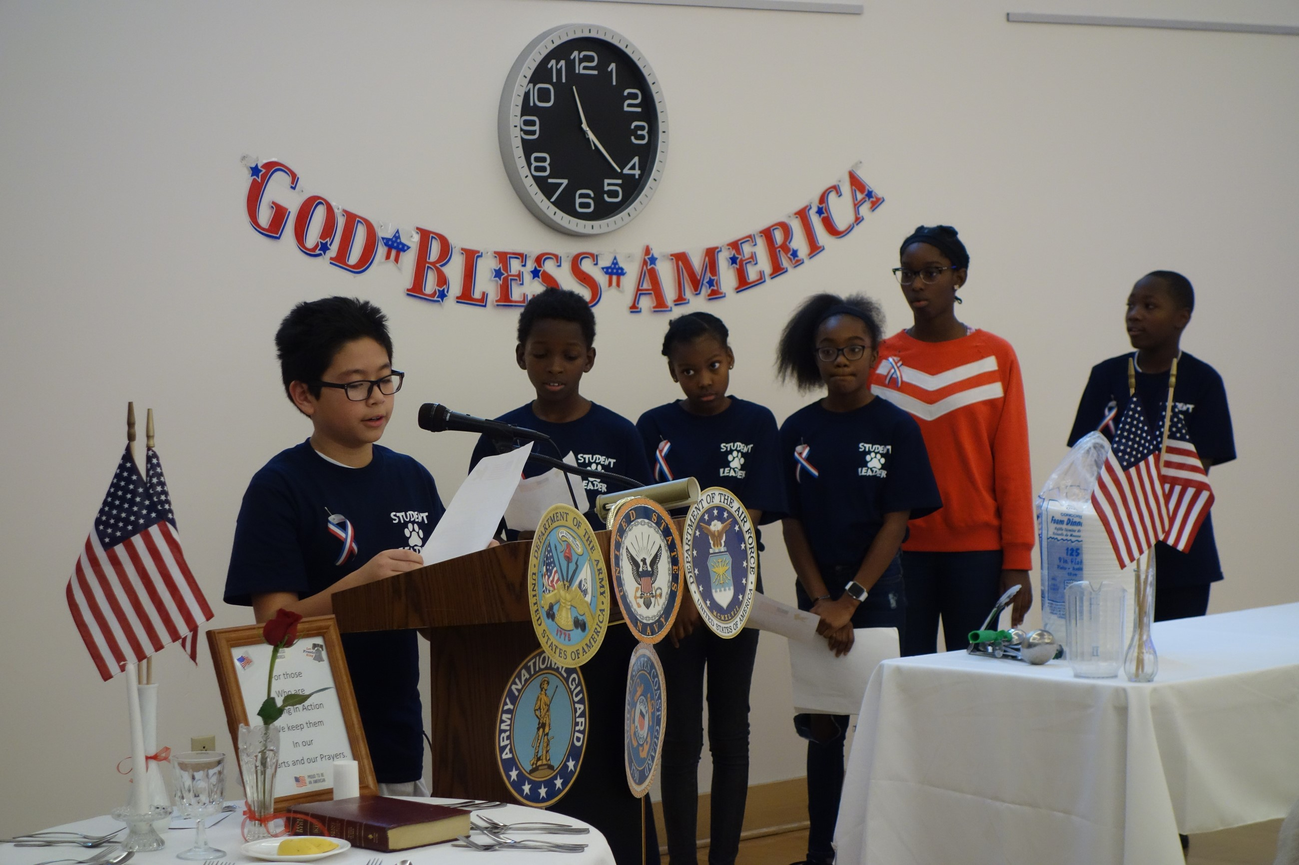 Ceremony at Jennings Center on Veterans Day