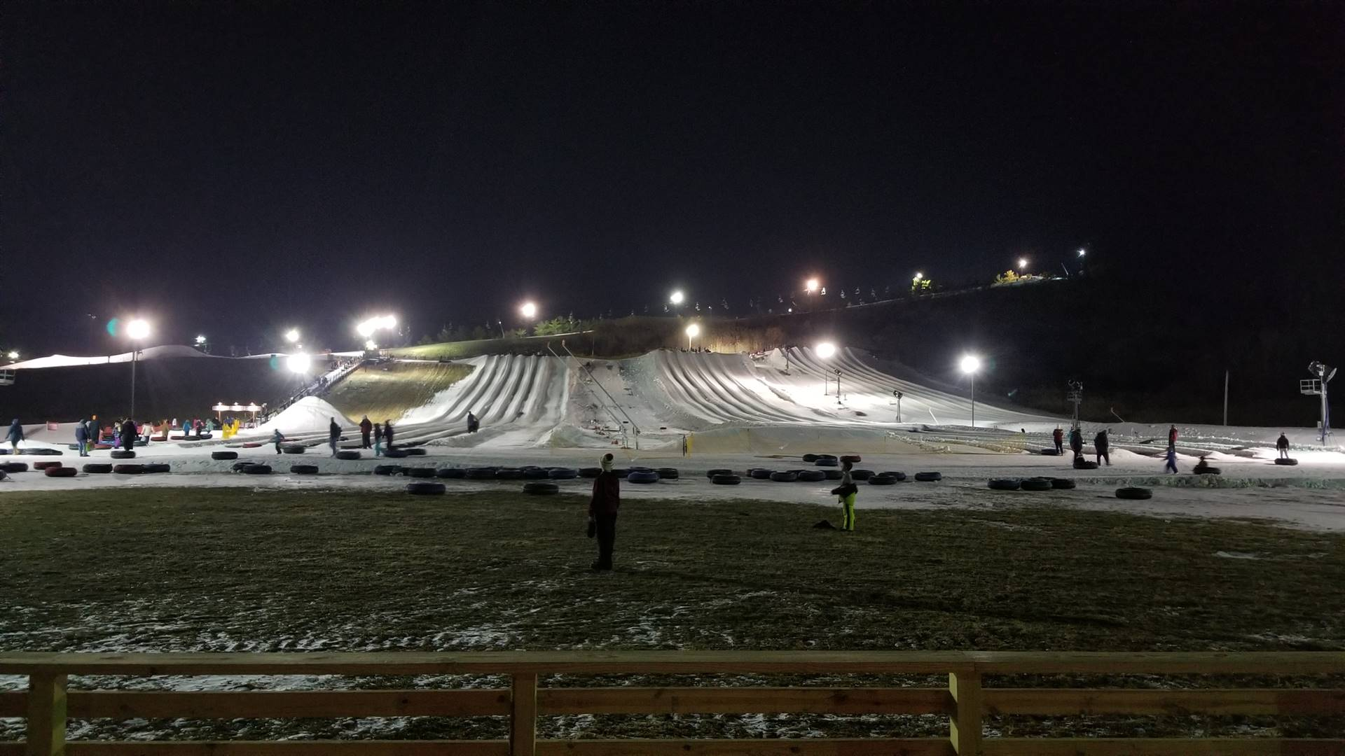 the tubing area